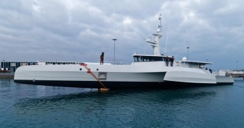 An Ocean Eagle surveillance trimaran supplied to Mozambique under the EMATUM or ProIndicus deals. Photo: CMN
