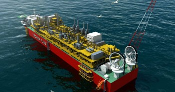 Artist impression of an FLNG terminal. Photo: Technip
