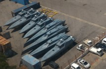 Some of the patrol boats Mozambique bought from Privinvest. Photo © Tom Bowker  / Zitamar News