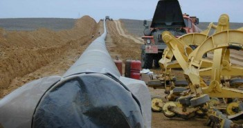 A gas pipeline under construction. Photo © Fluor
