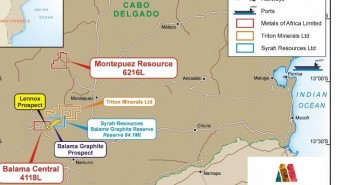A map of Cabo Delgado's graphite concessions. Courtesy: Metals of Africa