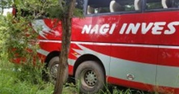 A Nagi bus after an attack in Manica earlier in 2016