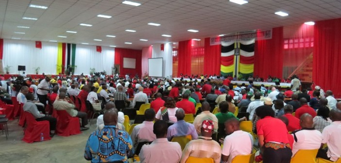Frelimo's Central Committee meeting in Matola in April 2016. Photo © Tom Bowker / Zitamar News
