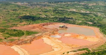 An aerial view of Kenmare's Moma mine. Photo: Kenmare Resources