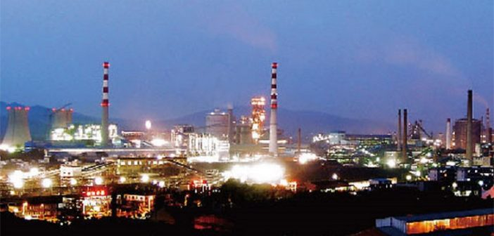 A steel mill built by the Metallurgical Corporation of China (MCC) in Guangdong Province. Photo © MCC