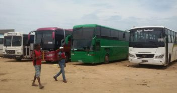 Buses at Tete's inter-provincial bus station. Photo © Fungai Caetano / Zitamar News