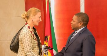 Ambassador Irina Scholgin Nyoni met President Filipe Nyusi on 20 March ahead of her departure from Mozambique at the end of the month. Photo: Mozambique Presidency