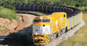 A train on the Nacala Logistics Corridor. Photo: Mitsui