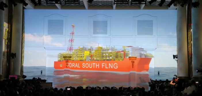 The ceremony announcing FID on the Eni-led Coral South FLNG project in Mozambique, 1 June 2017