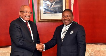 Jacob Zuma meets Filipe Nyusi in Maputo, September 2015. Photo courtesy GovernmentZA via Flickr