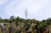 Power lines in Tete province. Photo courtesy ncondezienergy.com
