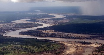 The Limpopo River in Mozambique during severe flooding in 2000