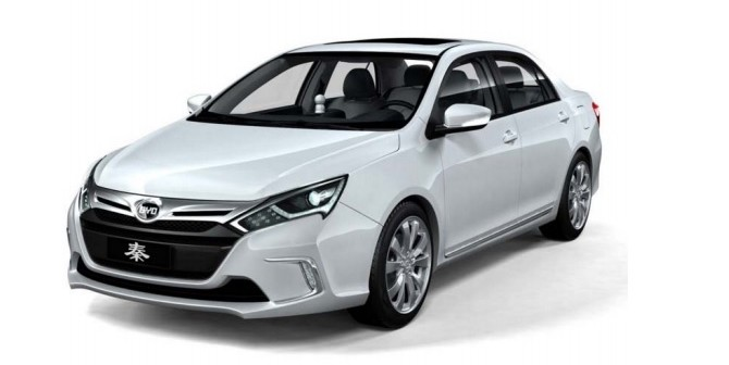 The BYD Qin, a popular electric car in China. Photo via Syrah Resources