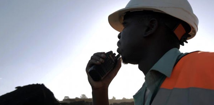 A worker at Vale's Moatize coal mining project. Photo: Vale
