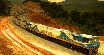 A train on the new rail line from Tete to Nacala. Photo: GPR Leasing Africa