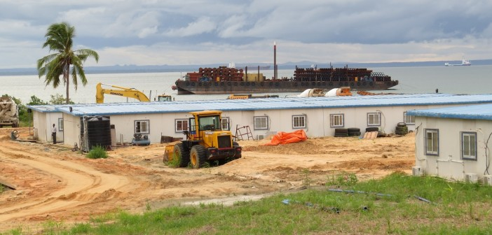 Work on the Pemba Logistics Base, March 2016. Photo: Zitamar News