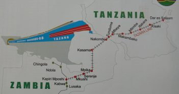 The TAZARA rail route. Photo from TAZARA Facebook page
