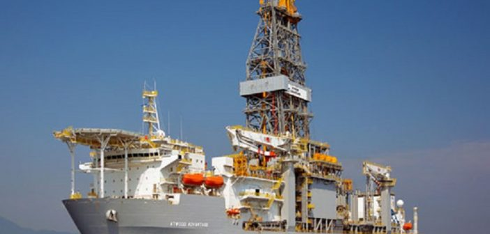 The Atwood Advantage offshore drilling rig. Photo from www.atwd.com
