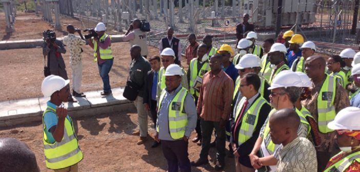 President Nyusi and minister of mineral resources and energy Pedro Couto visited Jindal's project in May 2016. Photo: Jindal