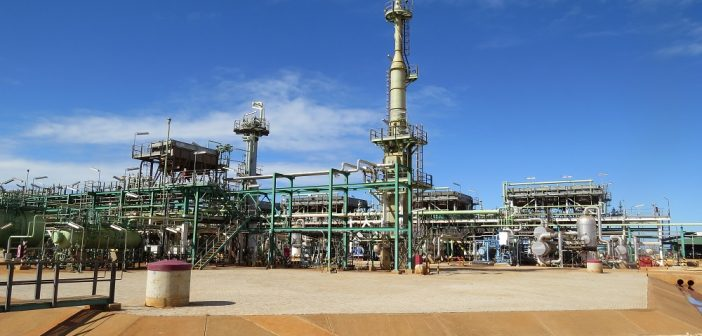 Sasol's Central Processing Facility in Temane, Inhambane, Mozambique. Photo © Tom Bowker / Zitamar News