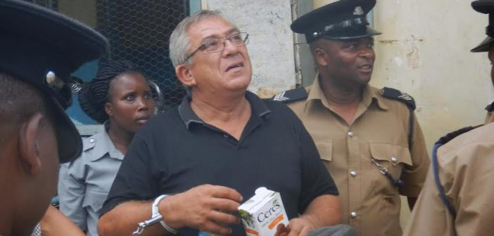A Mozambican suspect arrested in Malawi. Photo: Zitamar News