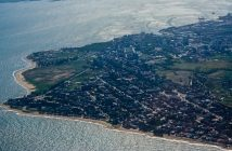 An aerial view of Beira. Photo by Flickr user Andrew Moore