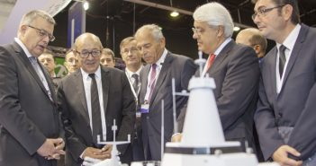 Privinvest executives with French politicians at the inauguration of French naval fair Euronaval 2016, October 2016. Photo: CMN