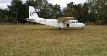 The plane involved in today's crash. Photo via Facebook