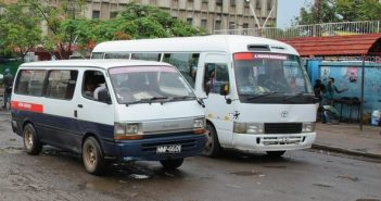 Minibuses or 'chapas' ply routes in Maputo. Photo from www.chapasproject.wordpress.com/