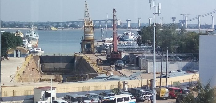 Privinvest boats visible behind the wall of the shipyard taken over by MAM in Maputo. Photo © Zitamar News, May 2017