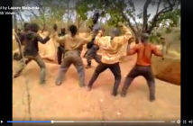 A still from a video purportedly showing the torture of artisanal miners in Montepuez
