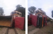 Scenes from the collision on 20 September 2017.