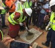 Former Cabo Delgado governor Celmira da Silva lays the first stone of resettlement at Afungi on 6 November 2017