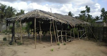 The makeshift mosque abandoned by insurgents in Macomia, Cabo Delgado. Photo © Amade Abubacar / Zitamar News