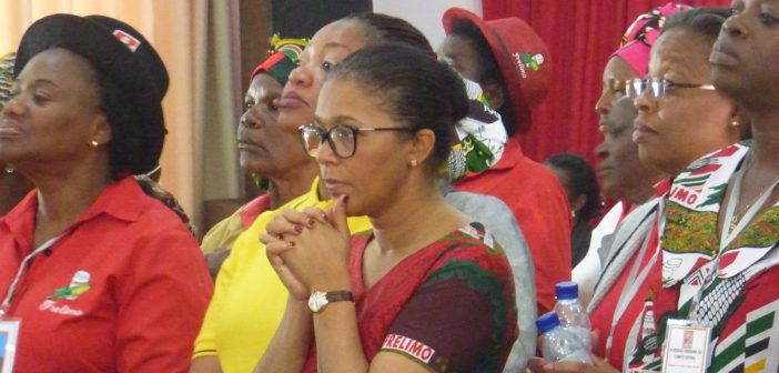 Former minister of mineral resources and energy, Leticia Klemens, at a Frelimo Central Committee meeting in July 2017. Photo © Alexandre Nhampossa / Zitamar News