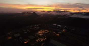 Sunrise on New Year's Day 2018 over Syrah Resources' Balama graphite facility. Photo: Syrah Resources