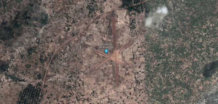 Angoche aerodrome seen from space. Image: Google Earth