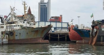 Alleged North Korean fishing vessels in Maputo harbour, discovered by CNN. Photo: Ingrid Formanek / CNN