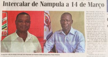 The two candidates featured by Jornal Noticias on 21 February 2018