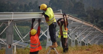 Construction underway at Scatec Solar's Asyv solar power plant in Rwanda. Photo © Scatec Solar