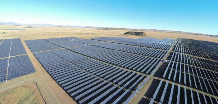 A solar power plant in South Africa. Photo: Scatec Solar