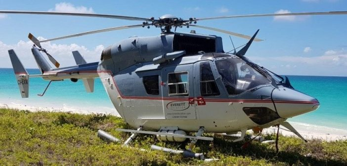 An Everett Aviation BK117-C1 helicopter in Mozambique. Photo: Everett Aviation