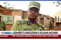 Screengrab of police officer Liberatus Sabas speaking to Tanzania's Azam News, September 2018
