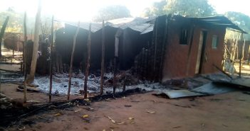 A house burned by insurgents in the village of Namaneco, Cabo Delgado, in August 2018.