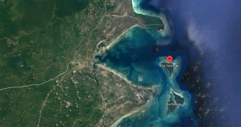Satellite view of Ilha Tecomaji and the Afungi Peninsula. Image: Google