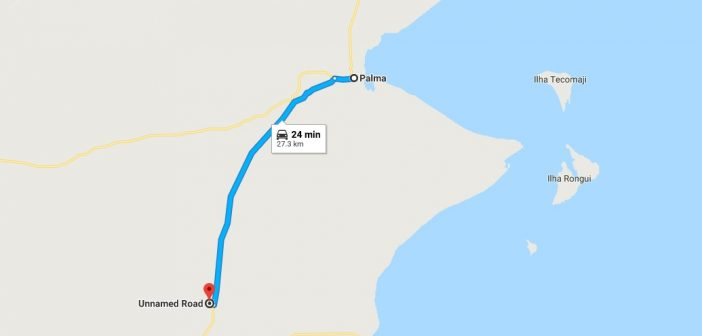 Approximate location of the attack at Mute, some 25km south of Palma. Image: Google