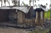 A house burned in the 16 May attack on the Palma neighbourhood of Bagala.