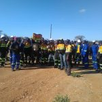 Tear gas fired at striking coal miners ahead of mine expansion consultation