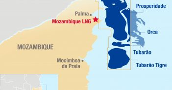 Map of the Area 1 Mozambique LNG project ©Total