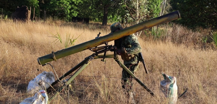 A still from a video supplied by the Mozambican Ministry of Defence on 9 October 2019.